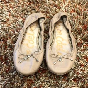 Sam Edelman tan leather ballet flats 6.5